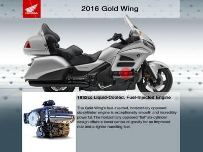 2016 Honda® Gold Wing Audio Comfort Navi XM ABS Grey